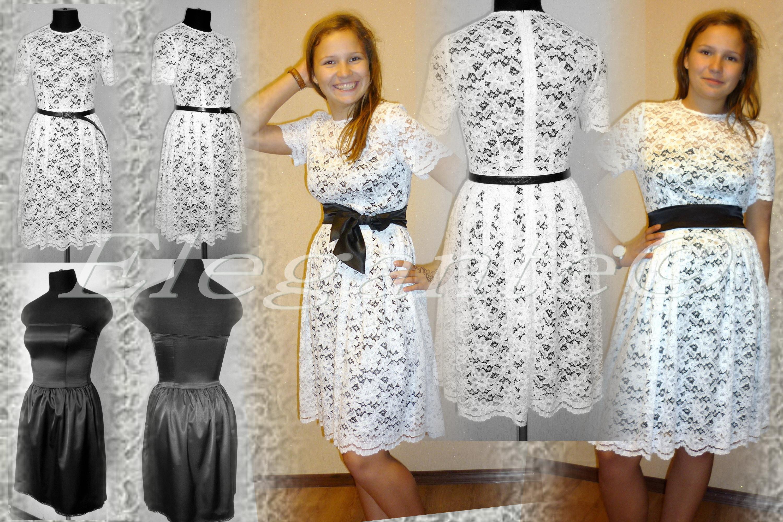 Платье из кружева своими руками фото