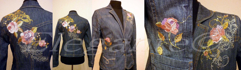 Вышивка на джинсовой куртке своими руками поэтапно 27