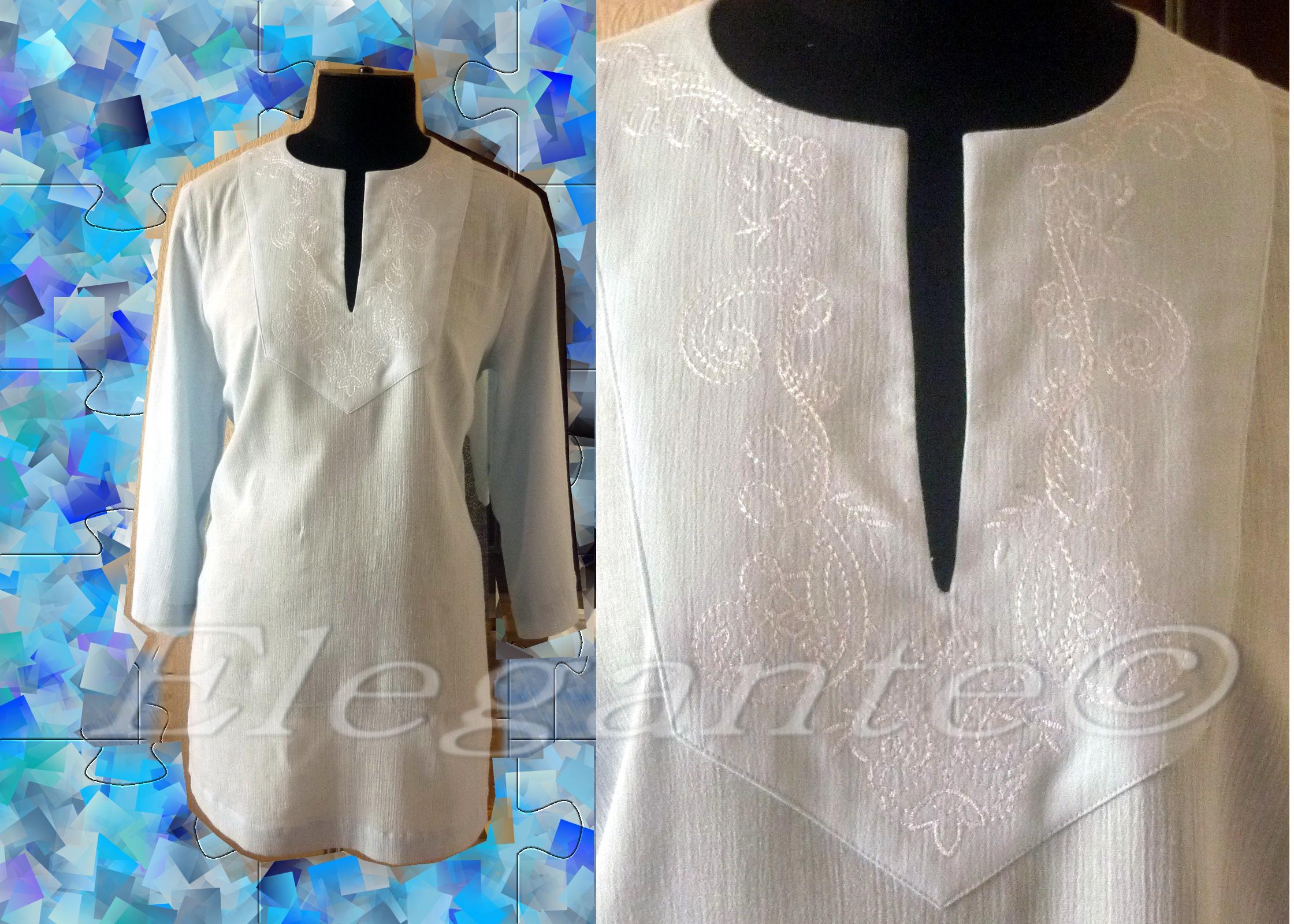 Сшить блузку из марлевки