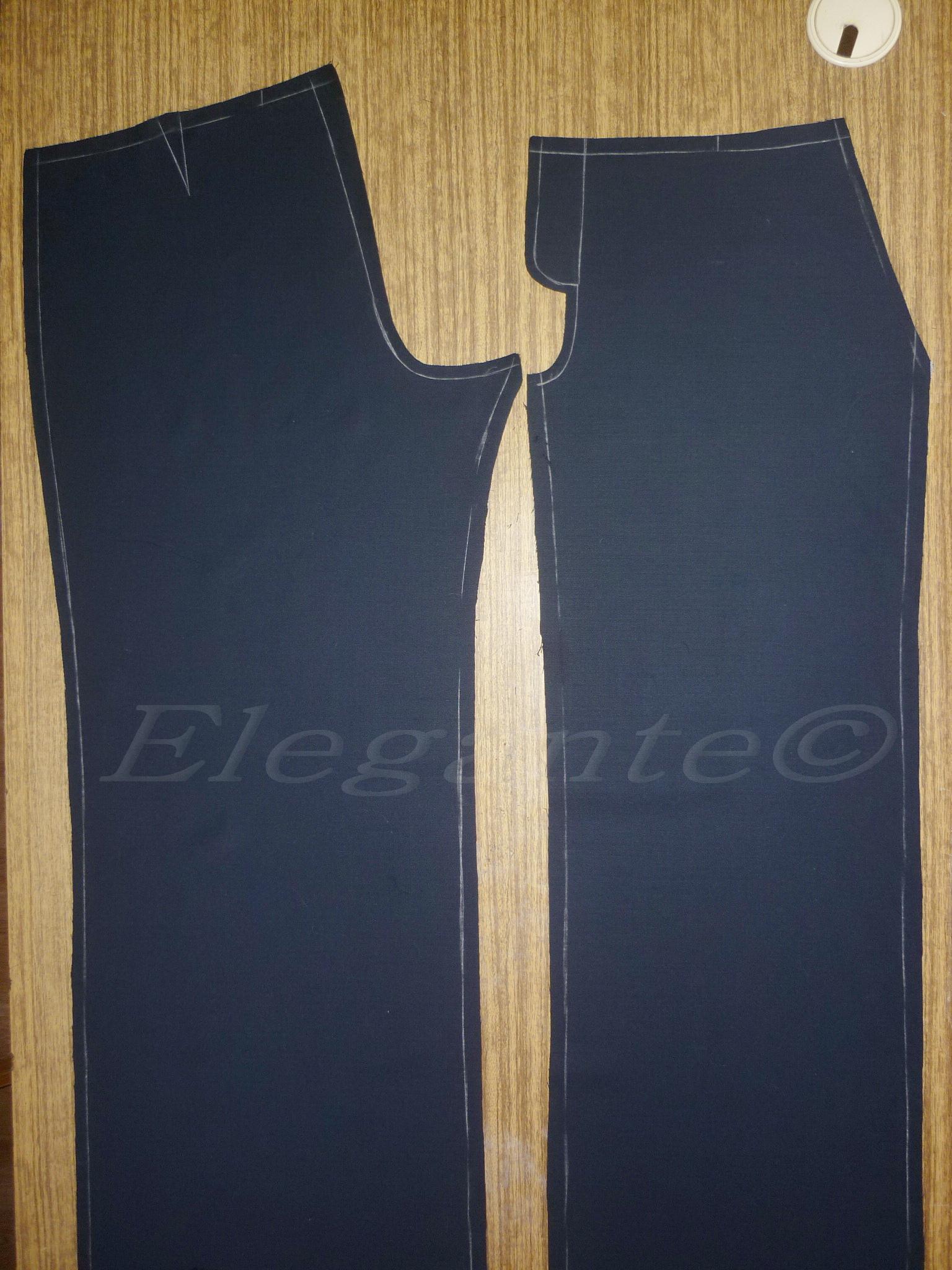 схема обработки брюк