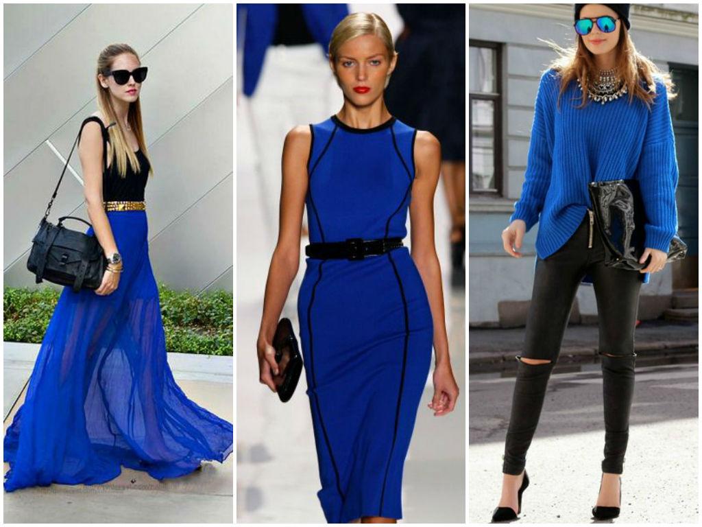 сочетание синего и коричневого цветов в одежде