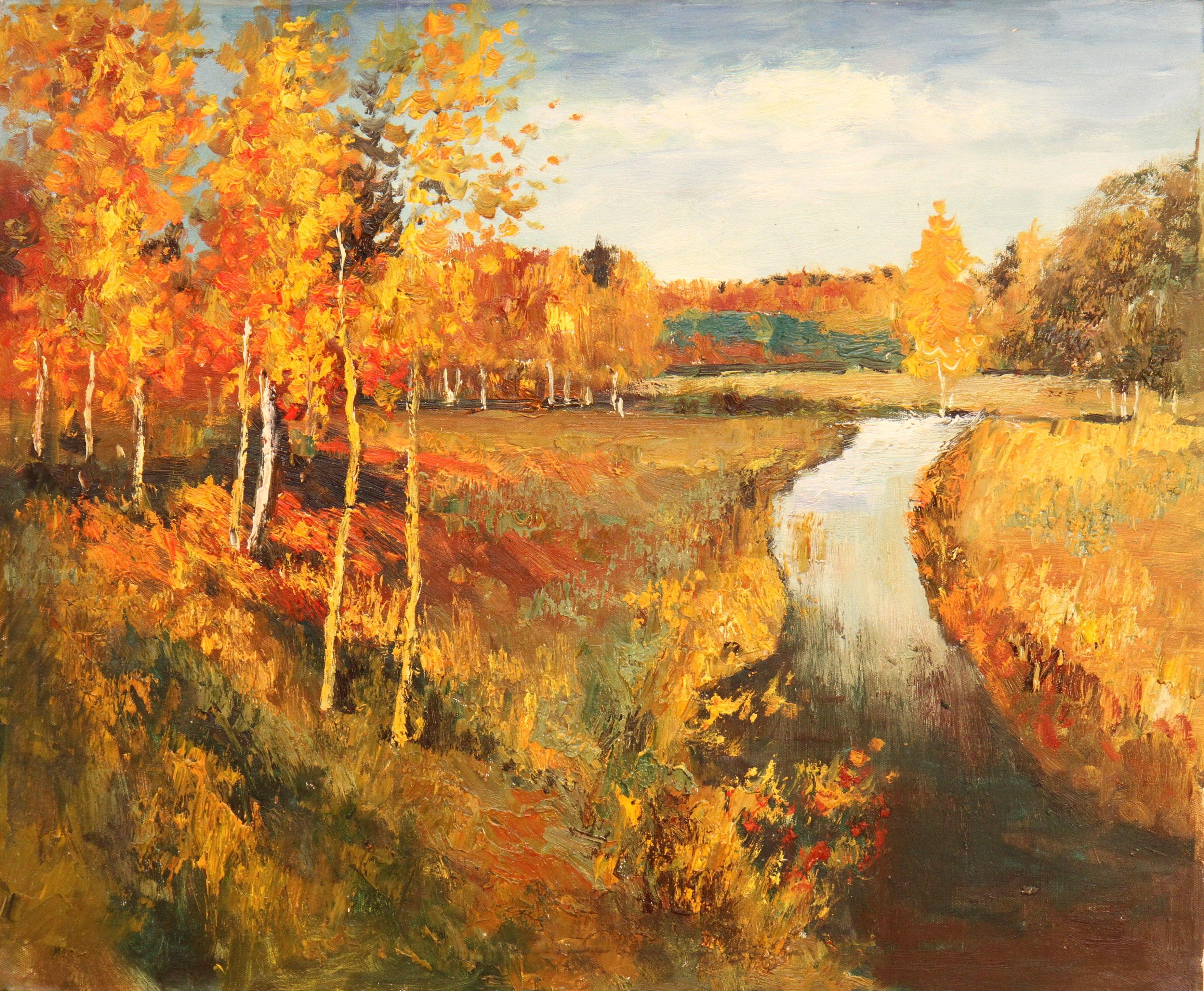 Золотая осень фото картины левитана 2